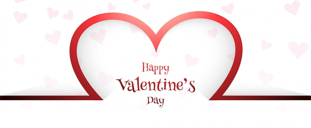 Beautiful valentine's day card header background