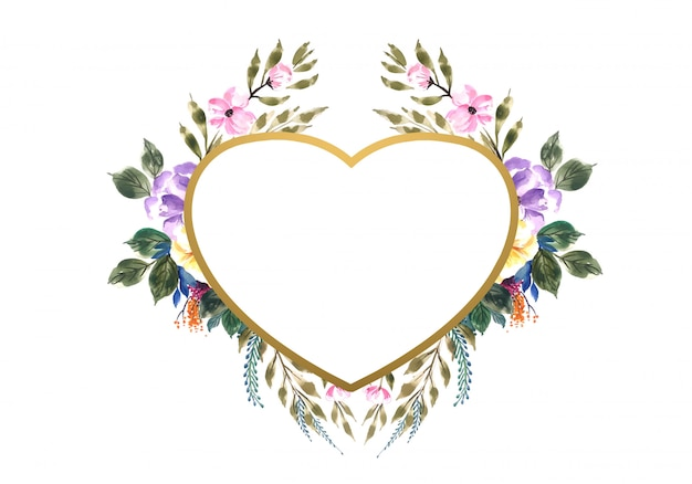 Beautiful valentine's day decorative flowers heart