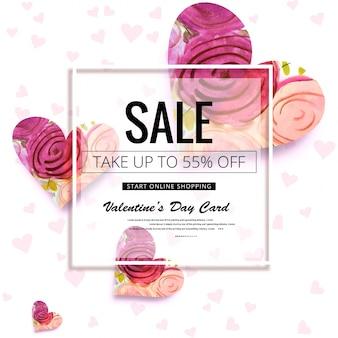 Beautiful valentine's day sale design background