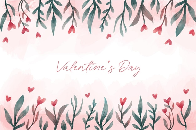 Beautiful valentines day background with flowers