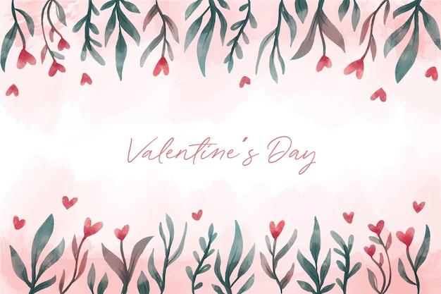꽃과 함께 아름 다운 발렌타인 배경