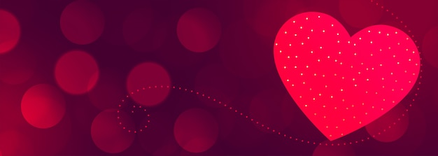 Beautiful valentines day banner with text space