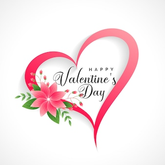 Beautiful valentines day heart with flower decoration