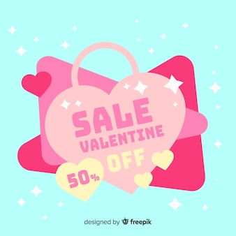 Beautiful valentines day sale background