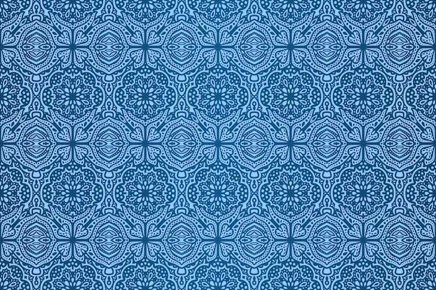추상 블루 원활한 패턴으로 아름 다운 벡터 배경