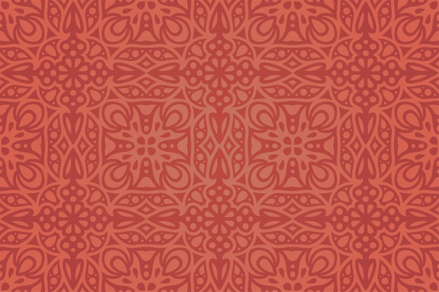 抽象的なカラフルな赤いシームレスパターンと美しいベクトルの背景