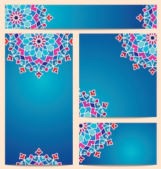 Beautiful vector colorful round arabic pattern