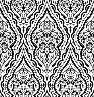 Beautiful vector damask seamless pattern