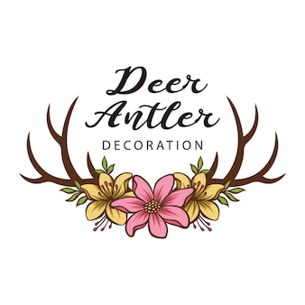 Beautiful vector of horn with flower