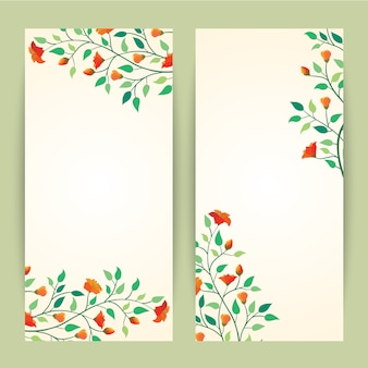Beautiful vector illustration flower banner background template