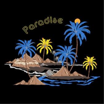 Beautiful vector of summer island