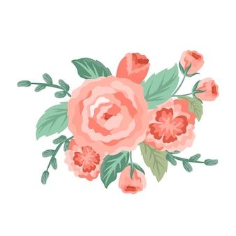 Beautiful vintage floral bouquet