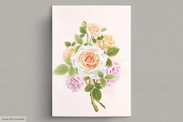 Beautiful vintage hand drawn roses illustrations