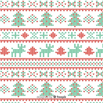 Beautiful vintage knitted christmas pattern