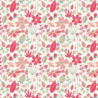 Beautiful vintage pattern with flowers and leaves
