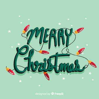 Beautiful wallpaper with merry christmas lettering