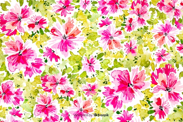 Beautiful watercolor abstract  floral background