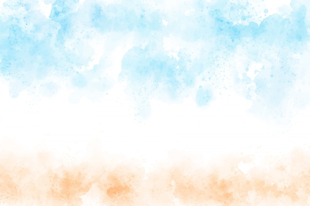 Beautiful watercolor beach seascape abstract background