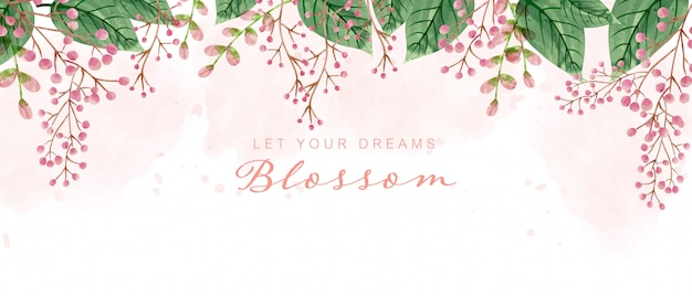 Beautiful watercolor blossom background