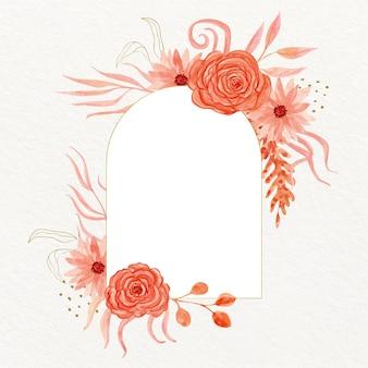 Beautiful watercolor boho frame