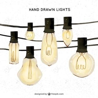 Beautiful watercolor bulbs