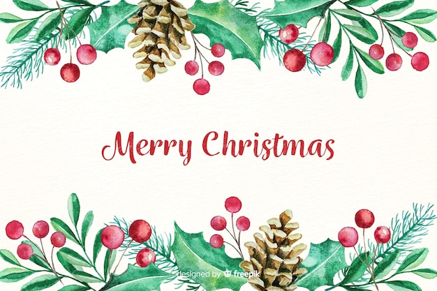 Beautiful watercolor christmas background
