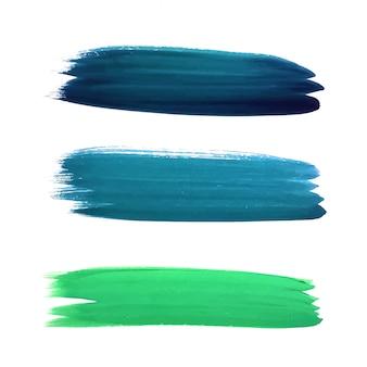 Beautiful watercolor colorful stroke design
