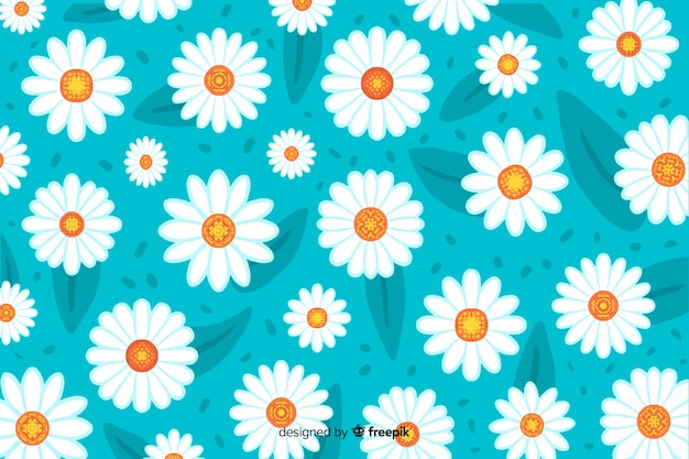 Beautiful watercolor daisy flower background