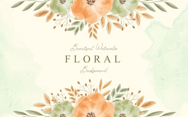 Красивый акварельный декоративный цветочный фон