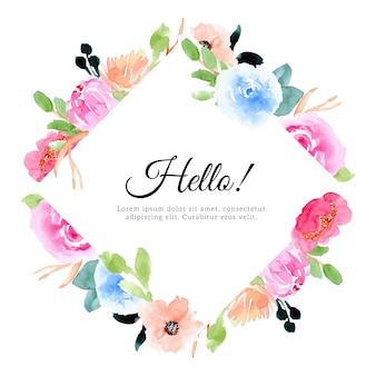 Красивая акварельная цветочная рамка