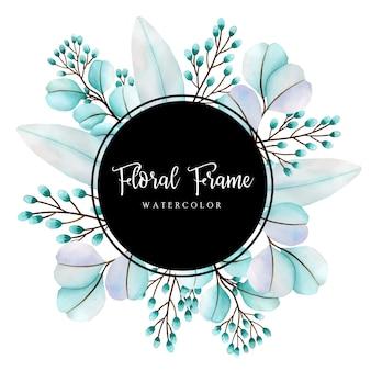아름 다운 수채화 꽃 프레임