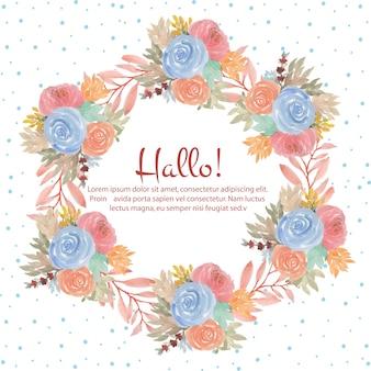 Beautiful watercolor floral frame