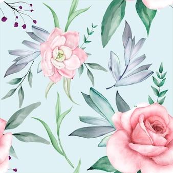 Красивая акварель цветочные бесшовные модели дизайна