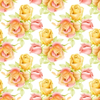Beautiful watercolor floral seamless pattern