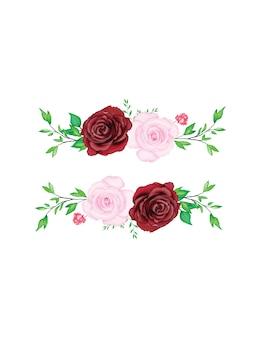 아름다운 수채화 꽃 웨딩 카드