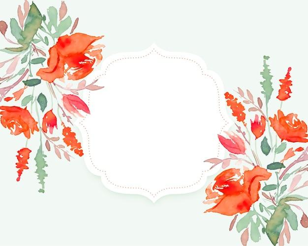 Beautiful watercolor flower background