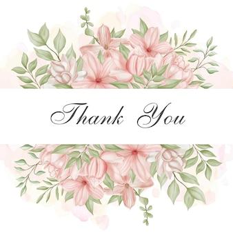 인사말 카드에 대 한 아름 다운 수채화 꽃 프레임