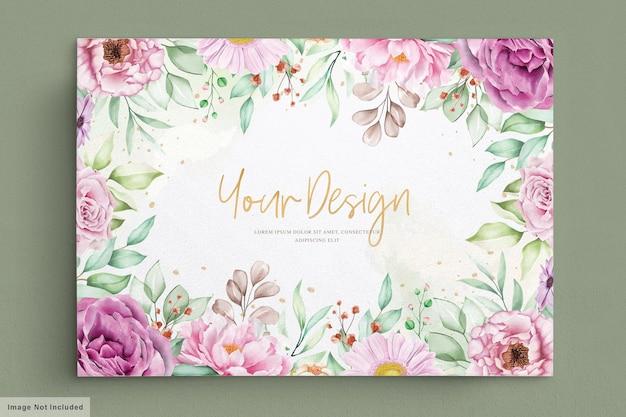 Красивая акварель цветы открытка