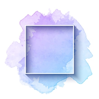 Beautiful watercolor frame