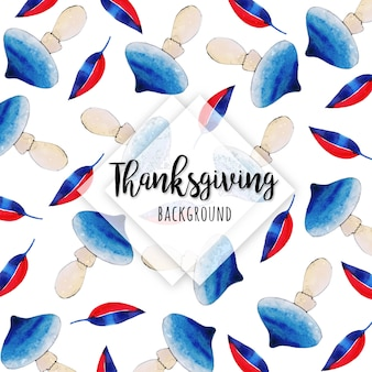 Beautiful watercolor happy thanksgiving background
