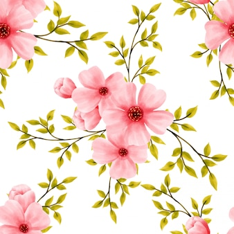 Beautiful watercolor pattern floral blossom flower