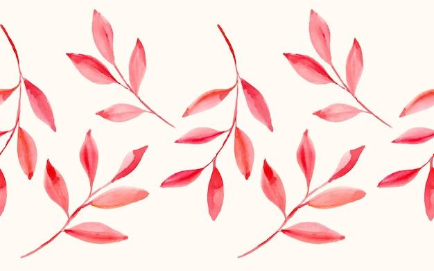 Красивые акварельные красные листья как бесшовный фон