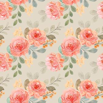 美しい水彩バラのシームレスなパターン