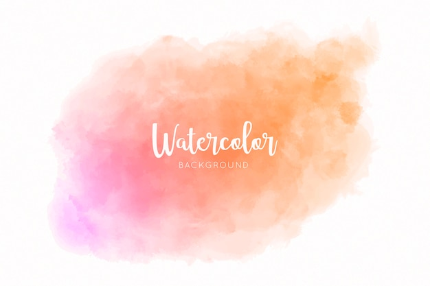 Beautiful watercolor splash