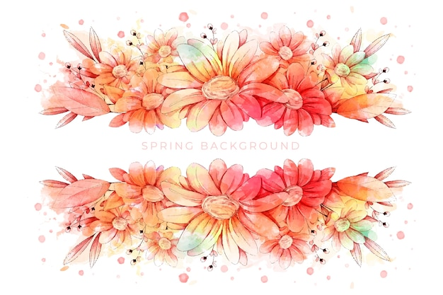 Beautiful watercolor spring wallpaper
