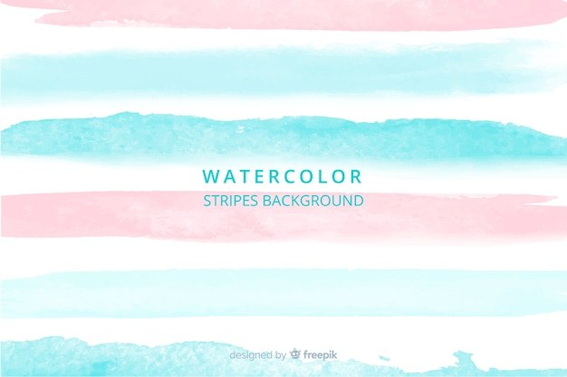 Beautiful watercolor stripes background