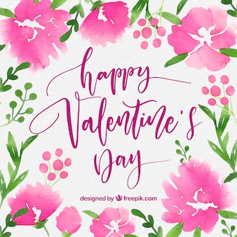 Beautiful watercolor valentine's day background