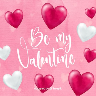 Beautiful watercolor  valentines day background