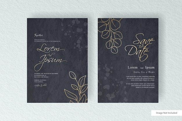 Beautiful watercolor wedding invitation card template with abstract hand drawn dynamic fluid and hand painted watercolor splash