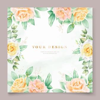 Bella carta di invito matrimonio acquerello